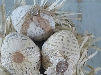 аранжиране на яйца във винтидж стил