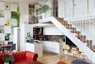 Разполагане на растенията в коридора и стълбището